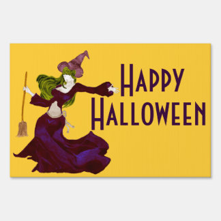 Wistful Witch Lawn Sign