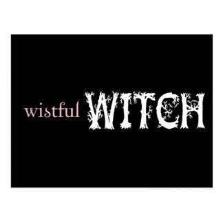 Wistful Witch Postcard