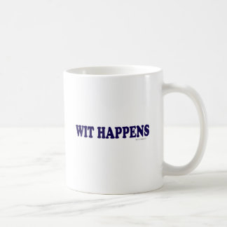 Wit Happens Classic White Coffee Mug