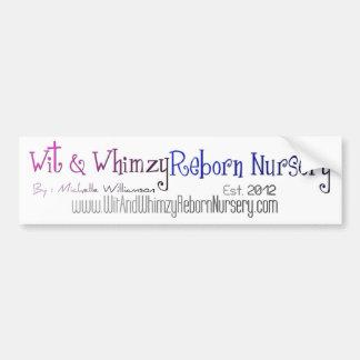Wit & Whimzy Reborn Nursery -BUMPER STICKER