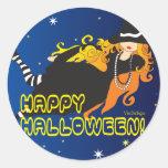 witch_1 classic round sticker
