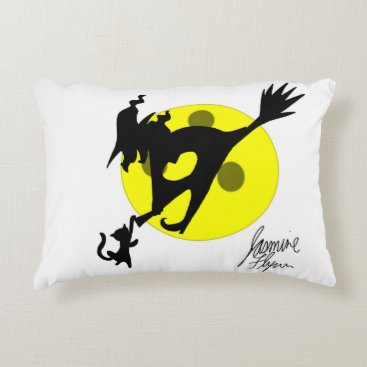 Halloween Themed Witch 1 decorative pillow