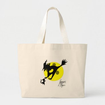 Halloween Themed Witch 1 large tote bag
