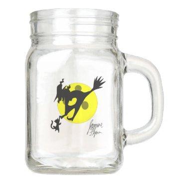 Halloween Themed Witch 1 mason jar