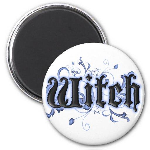 Witch 2 Inch Round Magnet