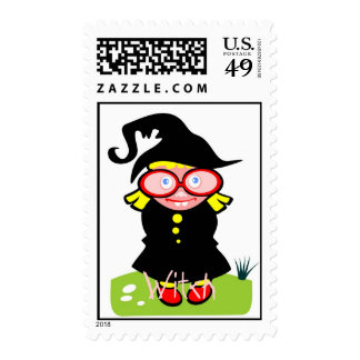 Witch 2 postage stamps