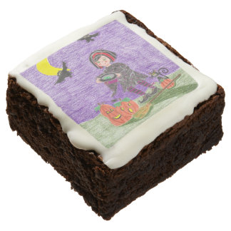 Witch 3 Halloween brownies Square Brownie