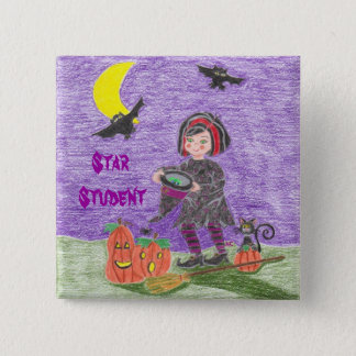 Witch 3, Star Student Pinback Button