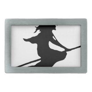 Witch #6 rectangular belt buckle