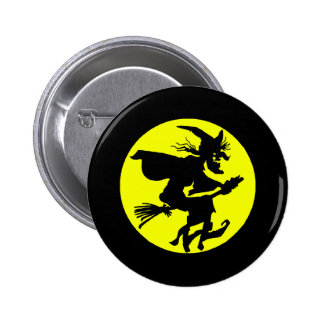 Witch against full moon button