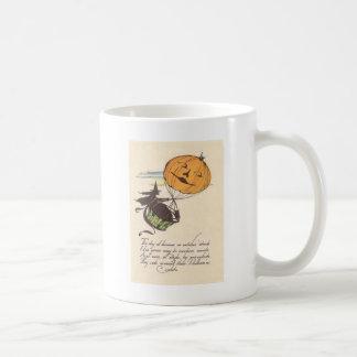 Witch Air Balloon Jack O Lantern Pumpkin Coffee Mug