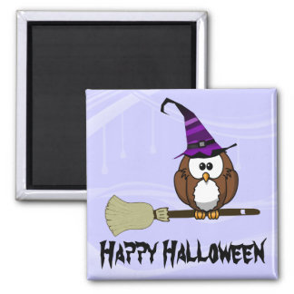 witch and bat owls magnet