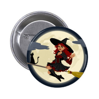 Witch And Black Cat Image Buttons