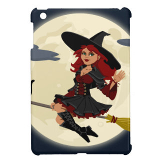 Witch And Black Cat Image iPad Mini Case