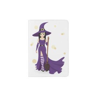 Witch And Broom Passport Holder
