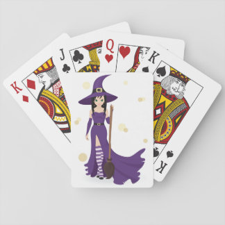 Witch And Broom Playing Cards