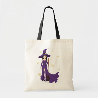 Witch And Broom Tote Bag