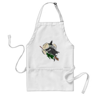 Witch and Broomstick Apron