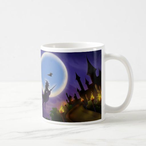 Witch and Buzzard Halloween MUG