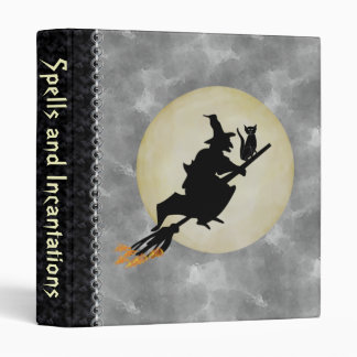 Witch and Cat 3 Ring Binders
