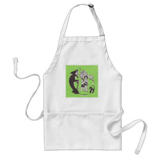 Witch and Cat Adult Apron