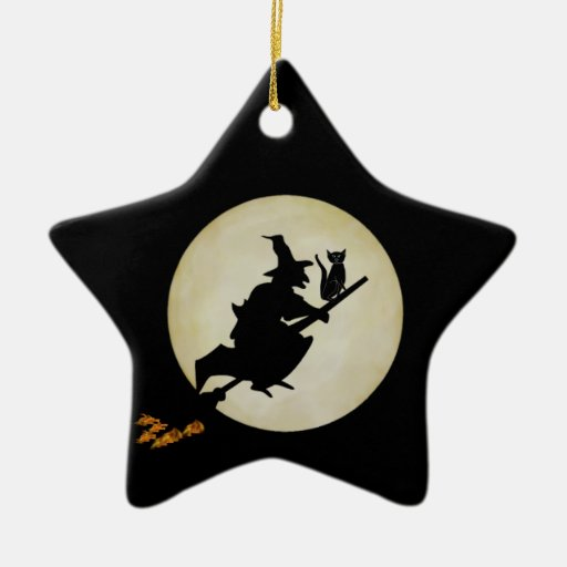 Witch and Cat Ornaments