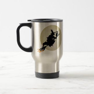 Witch and Cat Travel Mug