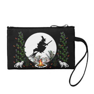 Witch and Cats Change Purse