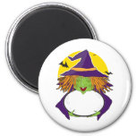 Witch and Cauldron 2 Inch Round Magnet