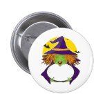 Witch and Cauldron Buttons