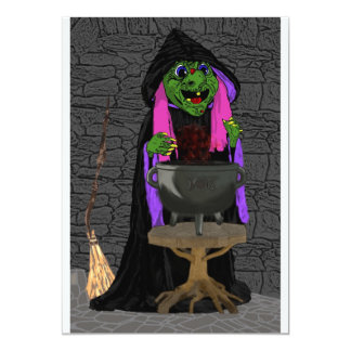 Witch and Cauldron Card