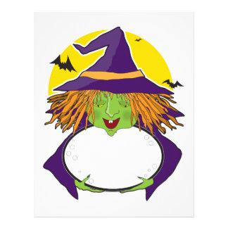 Witch and Cauldron Letterhead Design