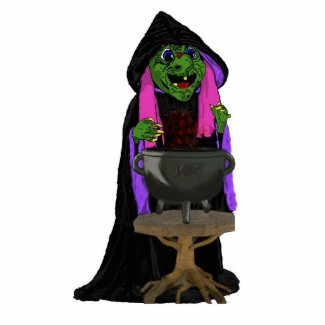 Witch and Cauldron photosculpture