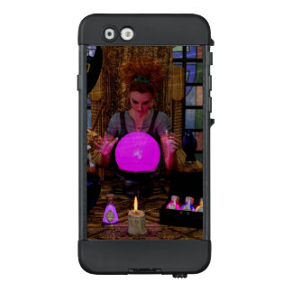 Witch and Crystal Ball with Potion Cell Phone Case