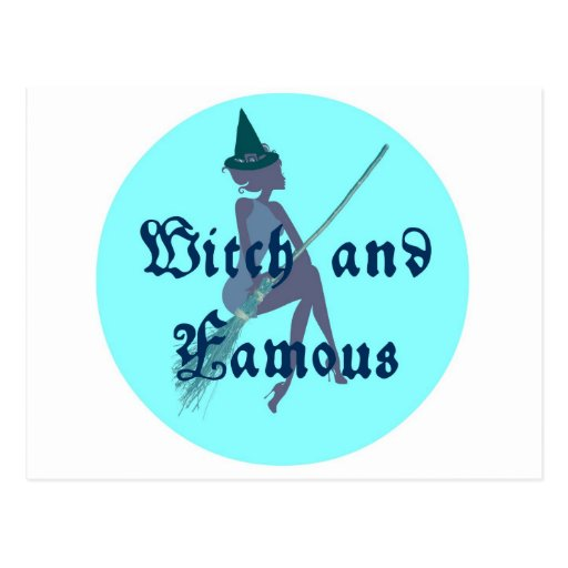WITCH AND FAMOUS BLUE MOON PRINT POSTCARD