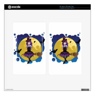 Witch and Full Moon Kindle Fire Decals