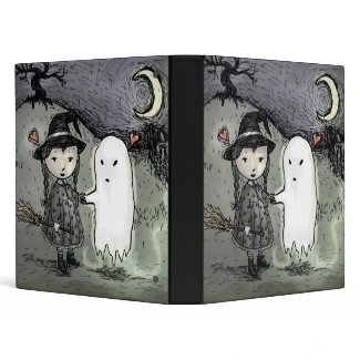 Witch And Ghost In Love Binder binder
