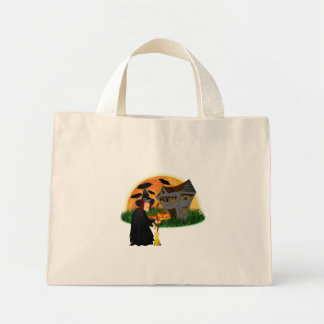Witch and Haunted House Halloween Bag