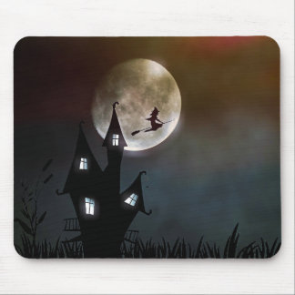 Witch and month mouse pad
