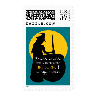 Witch and Moon Magic Spell Postage