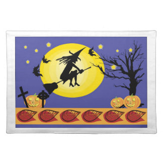 witch and moon placemats