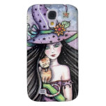 Witch and Orange Tabby Cat iPhone Case Galaxy S4 Covers