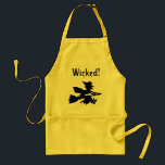 "Witch Apron, Wicked! Adult Apron<br><div class=""desc"">Witch Apron,  Wicked!</div>"