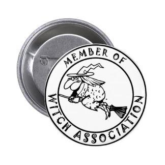 Witch association pinback button