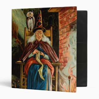 Witch at Fireplace 3 Ring Binder