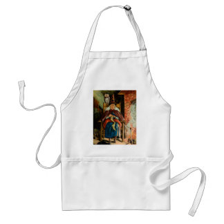 Witch at Fireplace Adult Apron