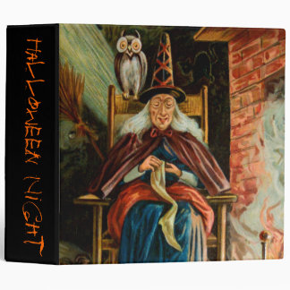 Witch at Fireplace Binder