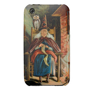 Witch at Fireplace iPhone 3 Covers
