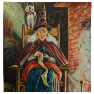 Witch at Fireplace