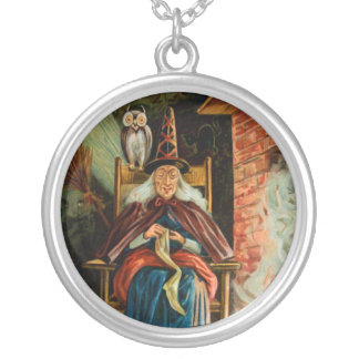 Witch at Fireplace Necklaces